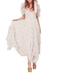 LoveShackFancy Multicolor Andie Silk Maxi Dress