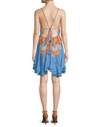 Free People Blue Sweet Lucy Floral Dress