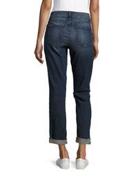 NYDJ Blue Faded Cotton-blend Denim Jeans