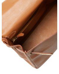 Hermès Brown Vintage Natural Courchevel Kelly Retourne 28