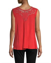 Free People Embroidered Hi-lo Top
