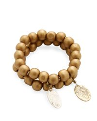 Alanna Bess Jewelry - Metallic Beaded Gold Friendship Bracelet - Lyst