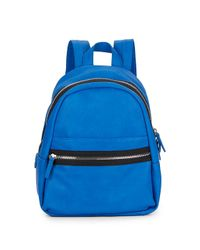 Kensie Blue Faux Leather Backpack