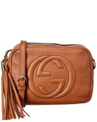 Gucci Brown Leather Disco Bag