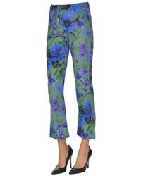 Massimo Alba Blue Flower Print Trousers