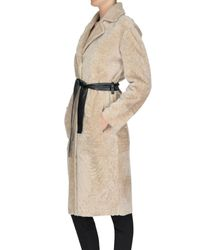 DROMe Multicolor Reversible Shearling Coat