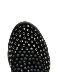 Pinko - Black Gem Embellished Slip-on Sneakers - Lyst