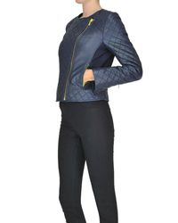 MICHAEL Michael Kors - Blue Quilted Leather Jacket - Lyst