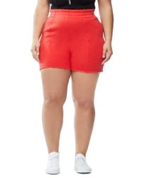GOOD AMERICAN Red The High Waist Shorts