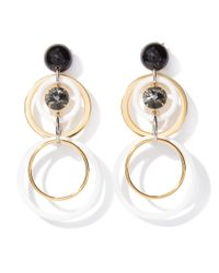 Marni - Multicolor Earrings Circles With Strass - Lyst