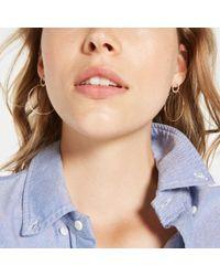 Sophie Ratner - Metallic Single Circle Hinge Ring Pave Earrings - Lyst