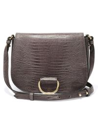 Little Liffner Brown D Saddle Medium Handbag
