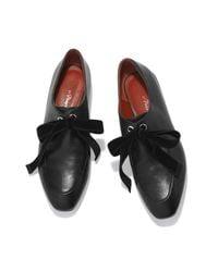 3.1 Phillip Lim Black Square-toe Lace-up Loafer