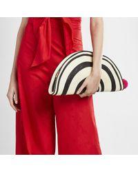 Sophie Anderson Black Half Moon Clutch Handbag
