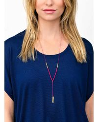 Gorjana & Griffin - Metallic Power Gemstone Pink Jade Necklace For Dream - Lyst