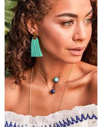 Gorjana & Griffin - Metallic Havana Circle Tassel Earrings - Lyst