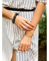 Gorjana & Griffin - Metallic Power Gemstone Black Onyx Beaded Bracelet For Protection - Lyst