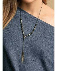 Gorjana & Griffin - Metallic Power Gemstone Pyrite Beaded Necklace For Strength - Lyst