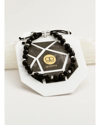 Gorjana & Griffin Metallic Power Gemstone Black Onyx Beaded Bracelet For Protection
