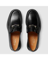 Gucci - Black Men's Horsebit Leather Loafer for Men - Lyst