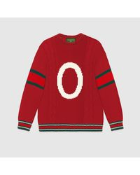 Gucci Red DIY Unisex Pullover aus Wolle