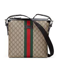 Gucci Green Web GG Supreme Messenger Bag for men