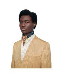 Foulard en soie à imprimé zodiaque Gucci pour homme en coloris Blue