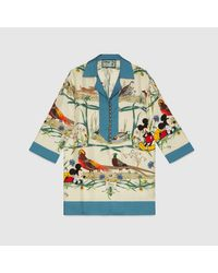 Gucci グッチdisney (ディズニー) X シルク シャツ Multicolor
