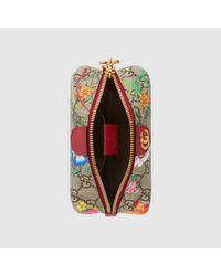 Gucci Natural Ophidia GG Kosmetiktäschchen mit Flora-Print