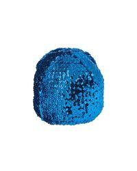 Chapeau orné de sequins avec broderie fleur appliquée Gucci pour homme en coloris Blue
