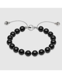 Gucci - Black Bracelet With Wooden Beads - Lyst