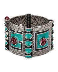 Gucci - Metallic Garden Square G Bracelet - Lyst