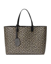 Gucci | Black Reversible Gg Caleido Leather Tote | Lyst