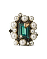 Gucci - Multicolor Ring With Crystal And Pearls for Men - Lyst