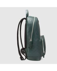 Gucci Green Signature Leather Backpack
