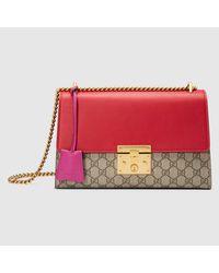 Gucci - Multicolor Padlock GG Supreme Lock Canvas And Leather Shoulder Bag - Lyst