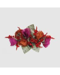 Gucci | Multicolor Flower Brooch In Silk And Cotton | Lyst