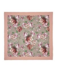 Gucci   Multicolor Modal Silk Blooms Print Shawl   Lyst