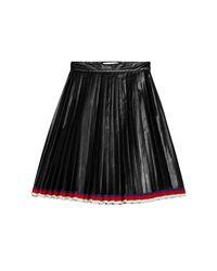 Gucci Black Pleated Skirt
