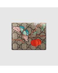 Gucci - Multicolor Tian Gg Supreme Card Case - Lyst