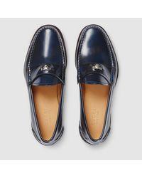 Gucci | Black Horsebit Leather Driving Shoes for Men | Lyst