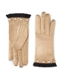 Gucci - Natural Studded Leather Glove - Lyst