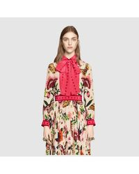 Gucci Multicolor Garden Exclusive Silk Shirt