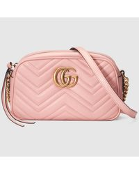 Gucci Multicolor GG Marmont Matelassé Leather Shoulder Bag