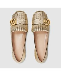 Gucci - Multicolor Metallic Leather Ballet Flat - Lyst