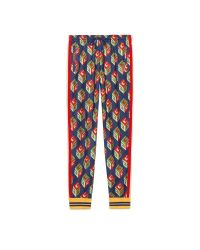 Gucci | Red Gg Wallpaper Technical Jersey Pant | Lyst