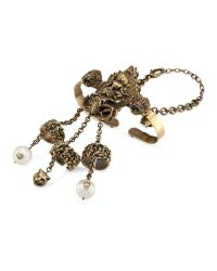 Gucci - Metallic Hand Accessory In Aged Metal - Lyst