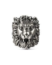 Gucci - Multicolor Ring With Lion Head for Men - Lyst