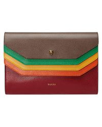 Gucci - Brown Totem Leather Portfolio - Lyst