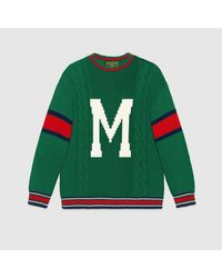 Gucci Green DIY Unisex Pullover aus Wolle
